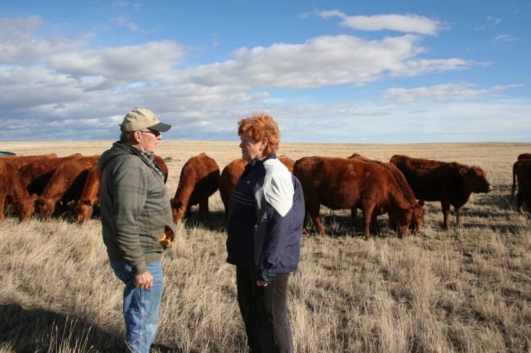 LJ and Karen Turner on Wyoming ranch